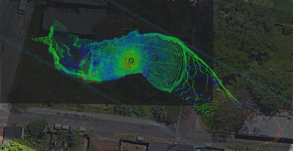 LIDAR image Overhead View, Courtesy of Ken Boyko